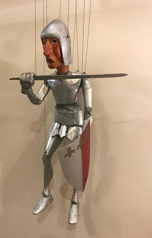 1960s Artists Crafted Medieval Knight Puppet by Stan Felman 9