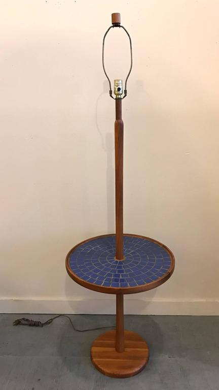 Blue Circular Tile-Top Jane and Gordon Martz / Marshall Studios Floor Lamp 2