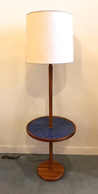 Blue Circular Tile-Top Jane and Gordon Martz / Marshall Studios Floor Lamp 8