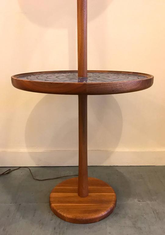 Blue Circular Tile-Top Jane and Gordon Martz / Marshall Studios Floor Lamp 6