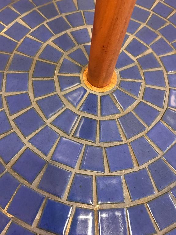 Blue Circular Tile-Top Jane and Gordon Martz / Marshall Studios Floor Lamp 5