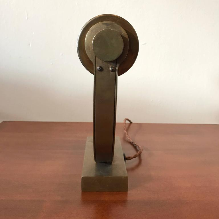 Brass Machine Age Desk Lamp 7