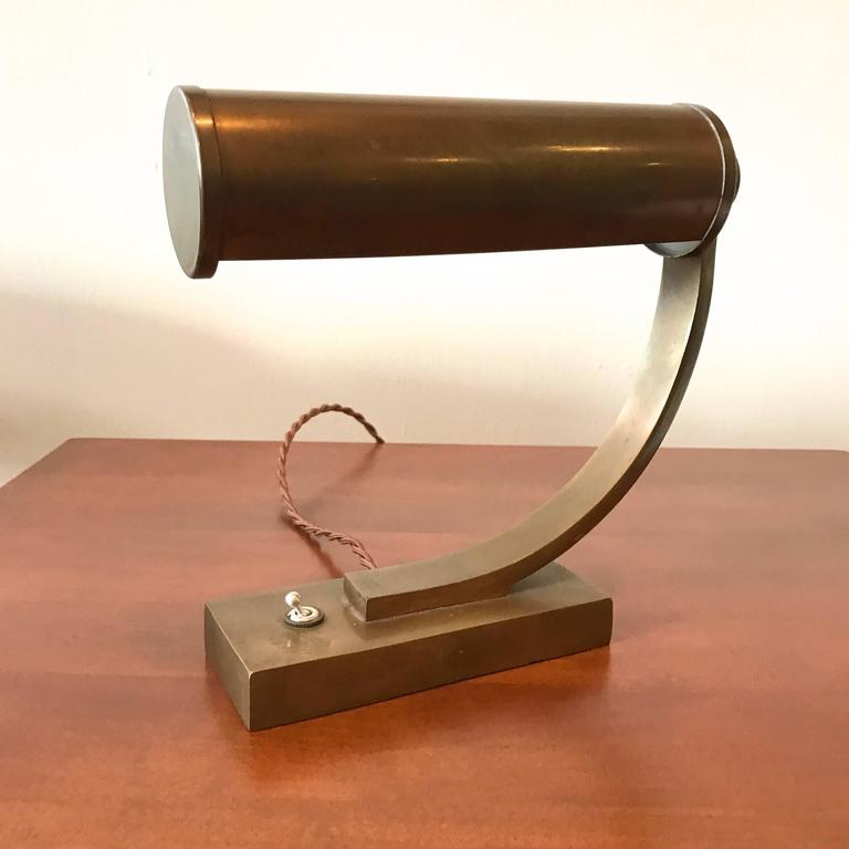 Brass Machine Age Desk Lamp 2