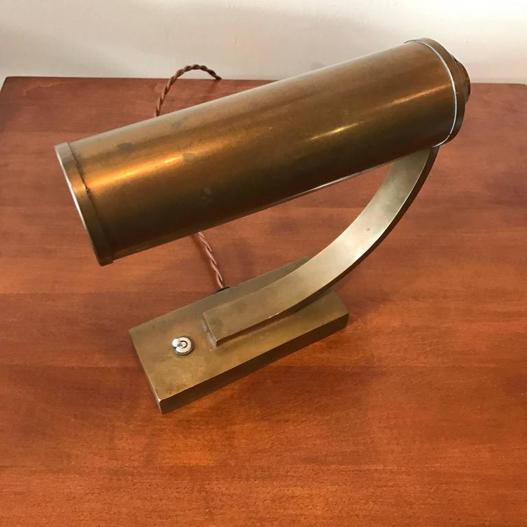 Brass Machine Age Desk Lamp 3