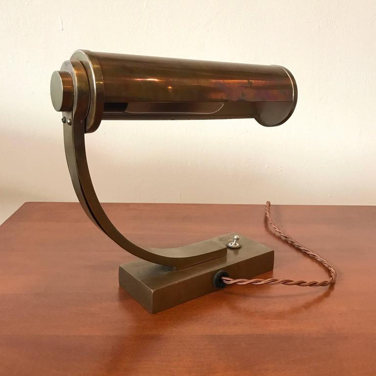 Brass Machine Age Desk Lamp 6