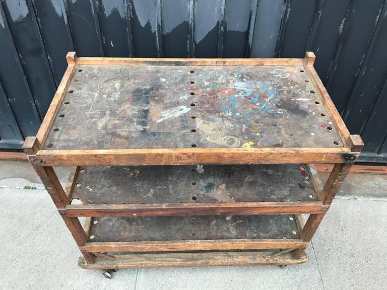 1920s-1930s Shoe Rack or Cart 3