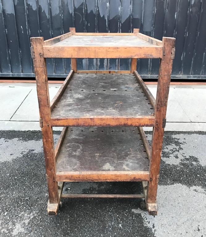 1920s-1930s Shoe Rack or Cart 7