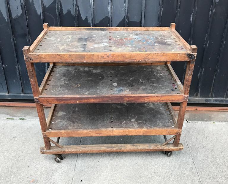 1920s-1930s Shoe Rack or Cart 2