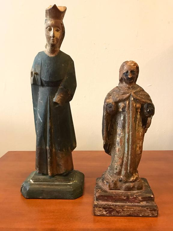 18th Century Carved Santos Figures 5