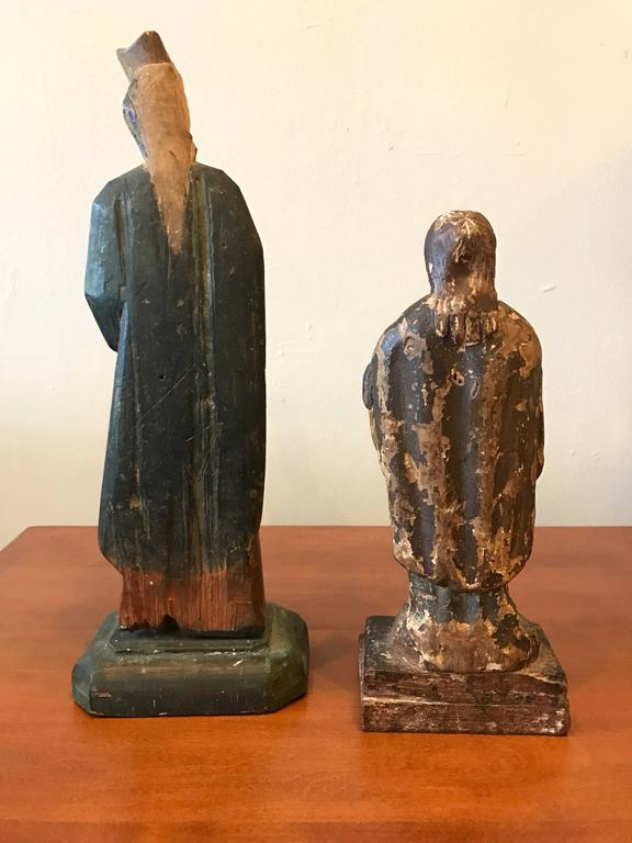 18th Century Carved Santos Figures 7