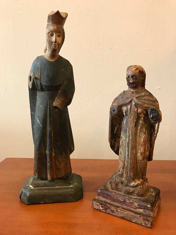 18th Century Carved Santos Figures 8