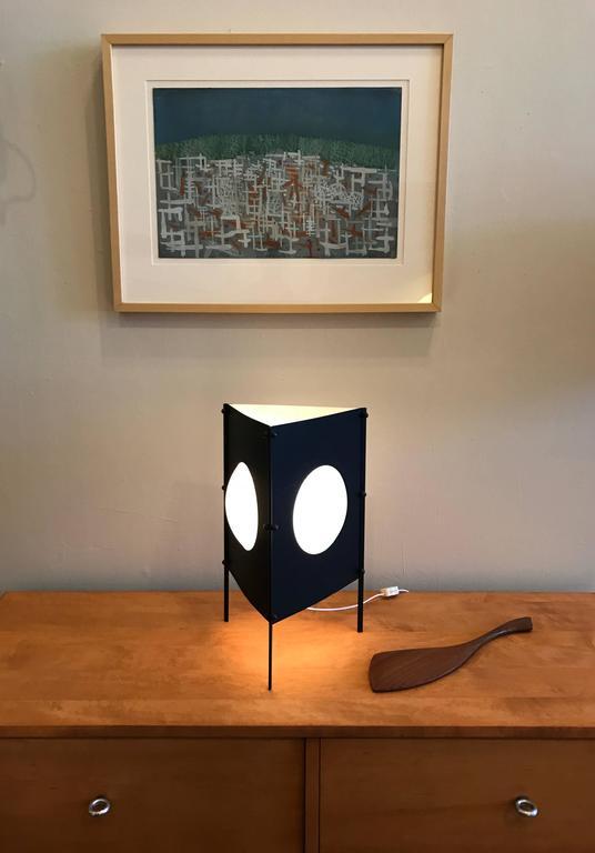 1950s Modernist Box Kite Table Lamp 8