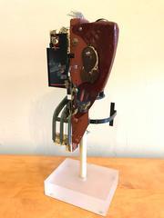 "Mixed Media Abstract Sculpture Bay Area Artist Scott Davis Lll ""White Head"" 1984"