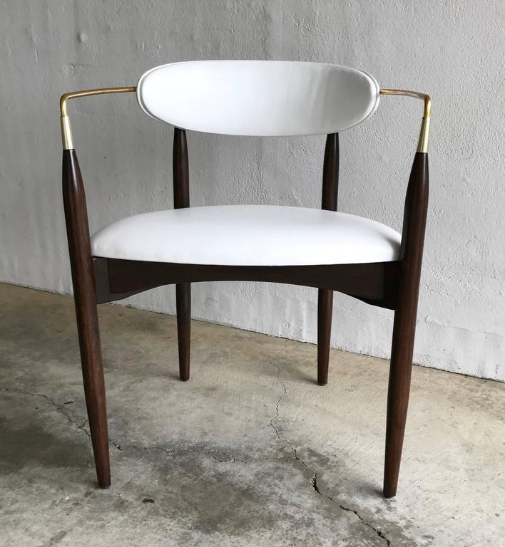 Dan Johnson Armchair for Selig in White Leather 2