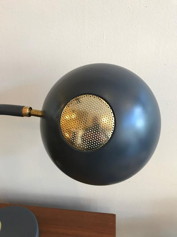 Early Production Adjustable Lightolier Table Lamp with Brass Accents 2