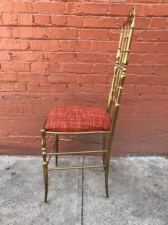 1950s Italian Brass Chiavari Chair 7