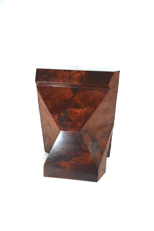 Rick Yoshimoto Asymmetrical Redwood Stool 2