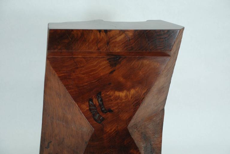 Rick Yoshimoto Asymmetrical Redwood Stool 4