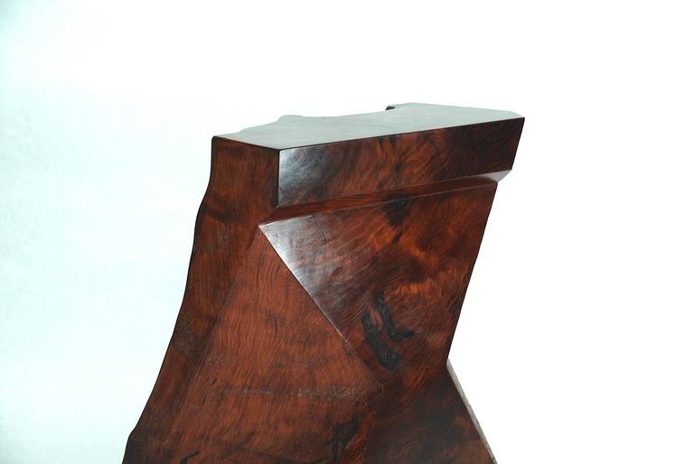 Rick Yoshimoto Asymmetrical Redwood Stool 5
