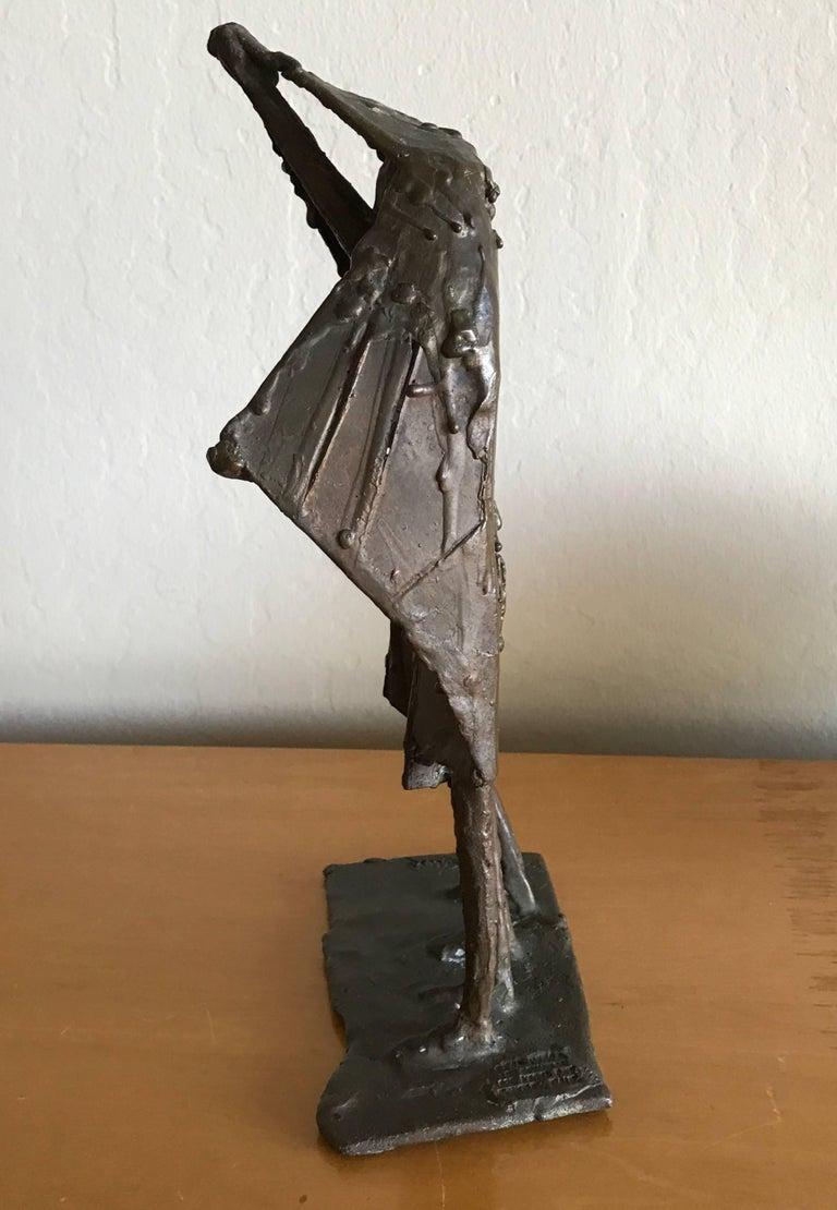 Bay Area Bronze Surrealist / Brutalist Figurative Sculpture 2