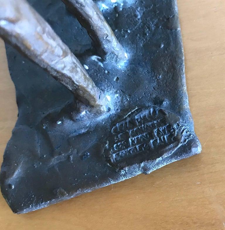Bay Area Bronze Surrealist / Brutalist Figurative Sculpture 9