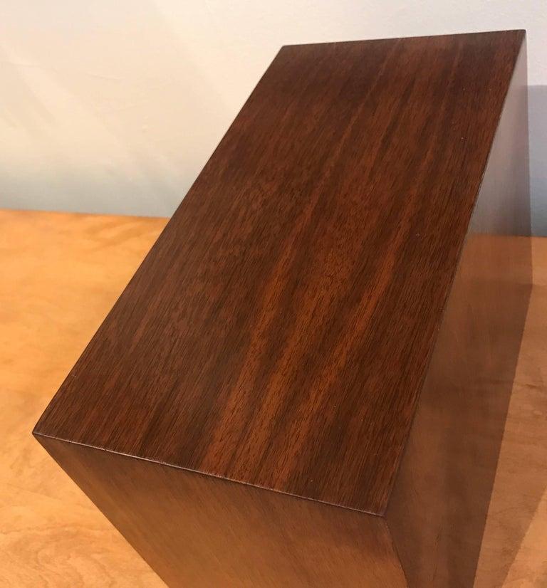 Studio Made Brass and Mahogany Modernist Jewelry Box 7