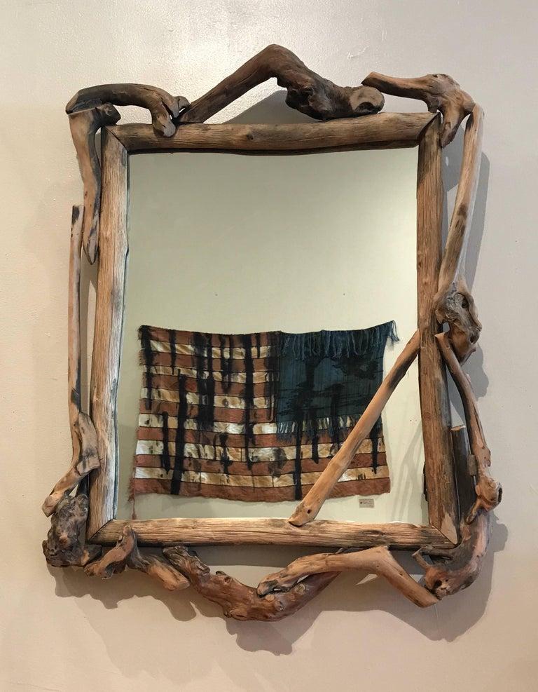 Rustic Handmade Grapevine Wall Mirror 10