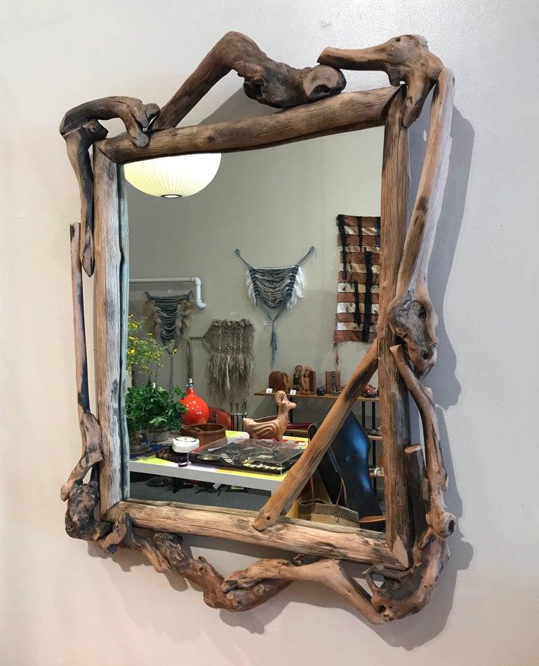 Rustic Handmade Grapevine Wall Mirror 3