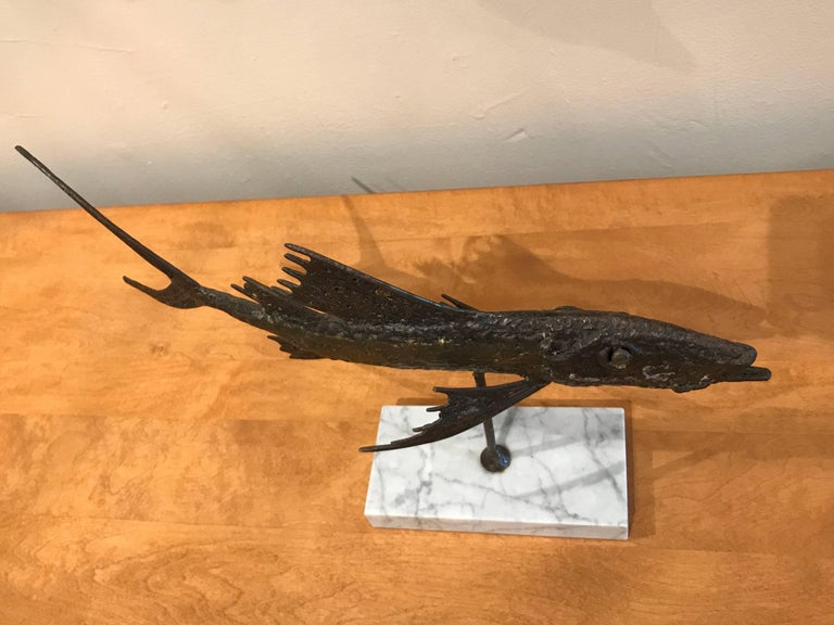 Abstract Bronze Sculpture of a Fish 5