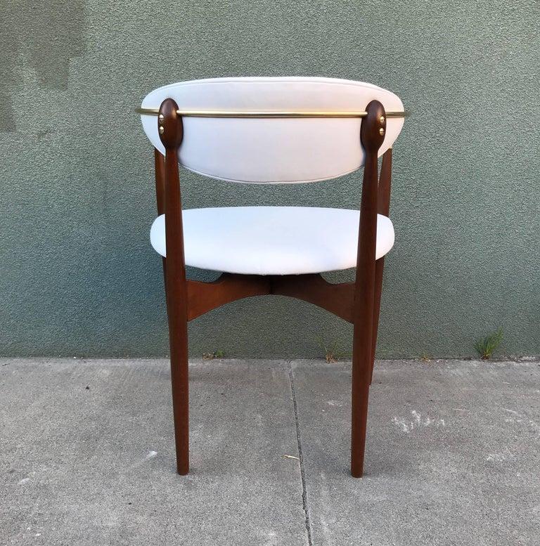 Dan Johnson Armchair in White Leather for Selig 2