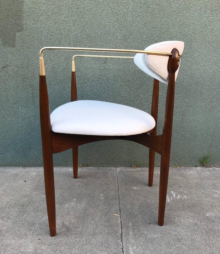 Dan Johnson Armchair in White Leather for Selig 5