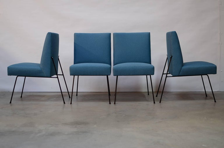 American California Iron Dining Chairs For Sale