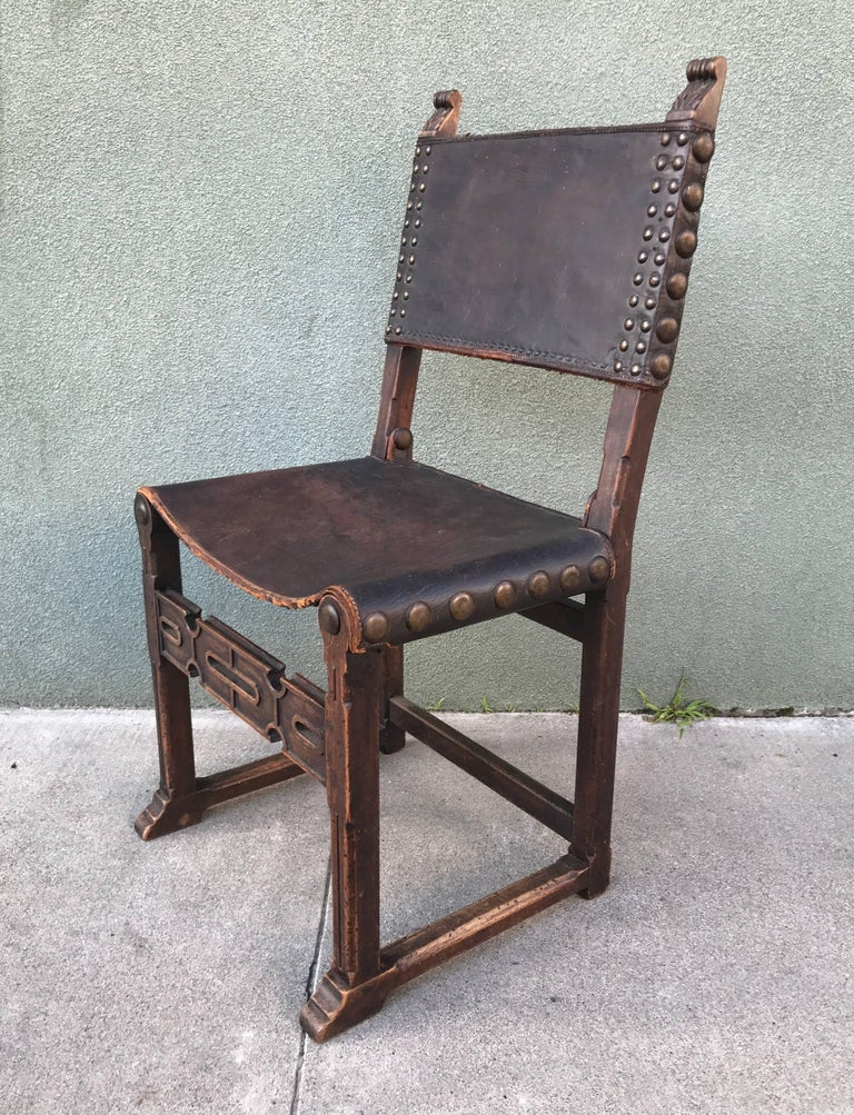 Spanish Revival Side Chair, 1920s 2