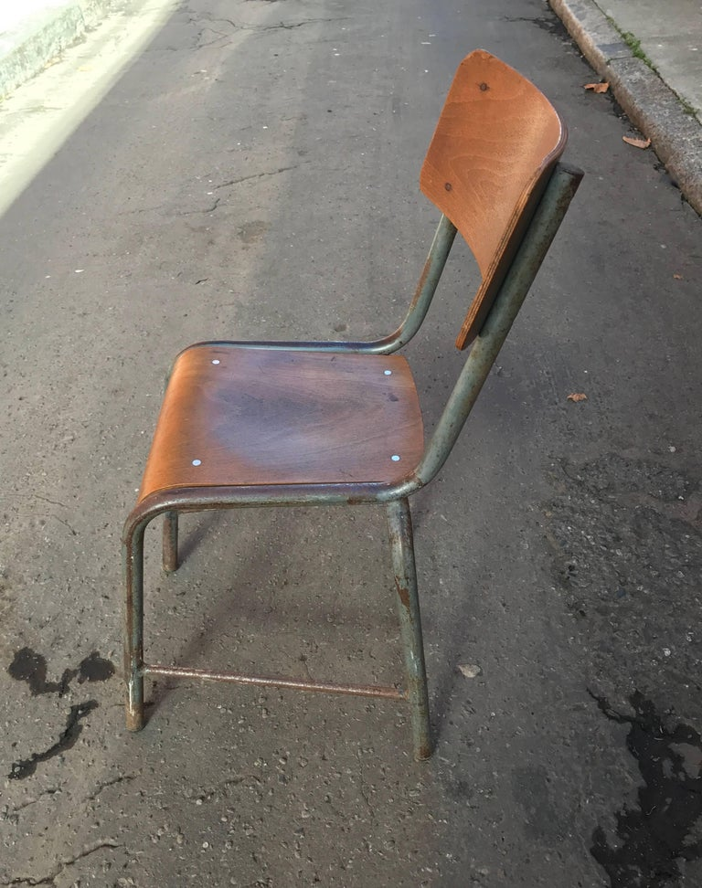1950s French Modernist  Industrial Side Chair 3