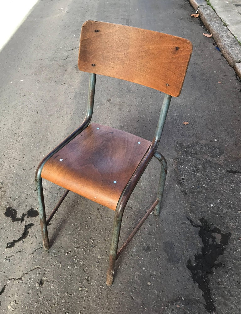 1950s French Modernist  Industrial Side Chair 2