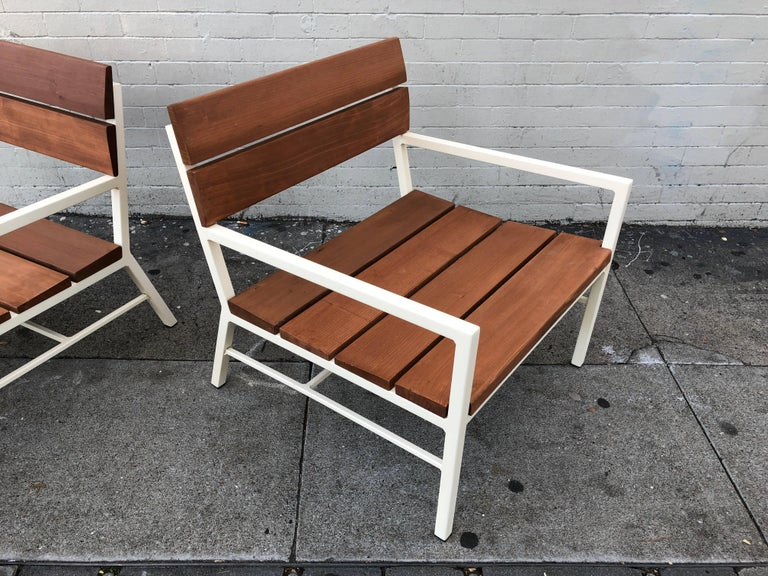 Van Keppel and Green Redwood Lounge Chairs, circa 1960s, California 3