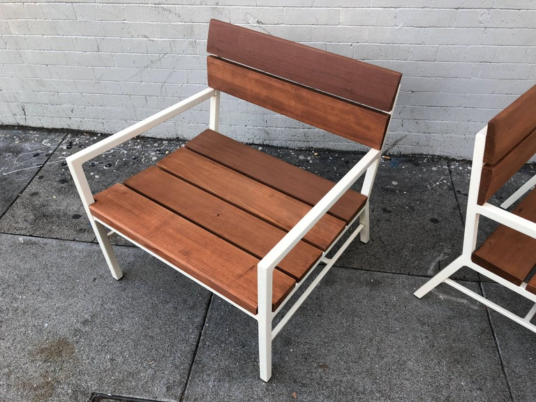 Van Keppel and Green Redwood Lounge Chairs, circa 1960s, California 4