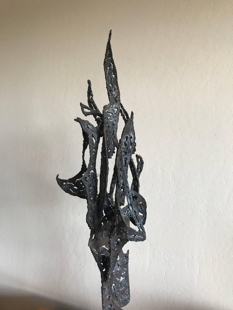 Mid-Century Modern 1950s Bay Area Abstract Sculpture by Winfreg Ng (1936-1991) For Sale
