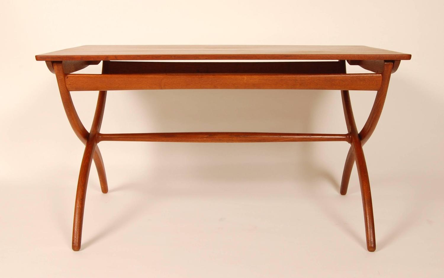 Ole wanscher adjustable coffee table for sale at 1stdibs - Telescoping coffee table ...