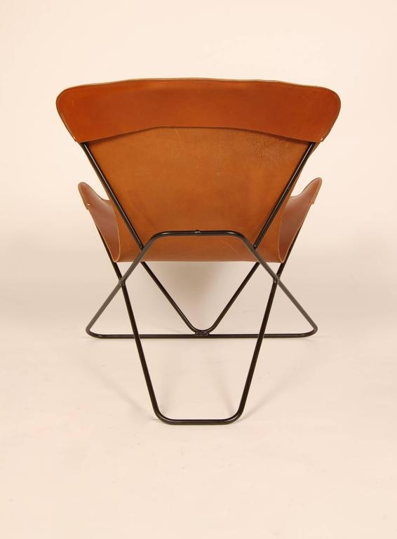 "Iron and Leather Sling Chairs California Design ""The Bolinas Lounge"" 3"