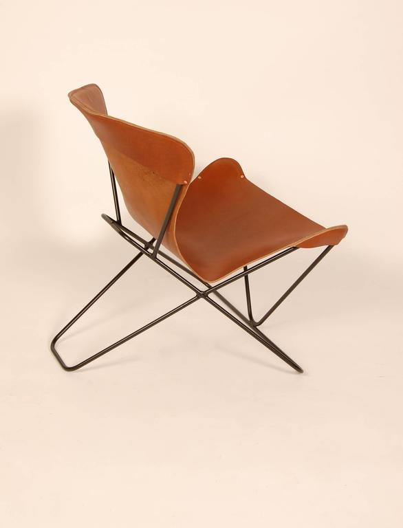 "Iron and Leather Sling Chairs California Design ""The Bolinas Lounge"" 7"