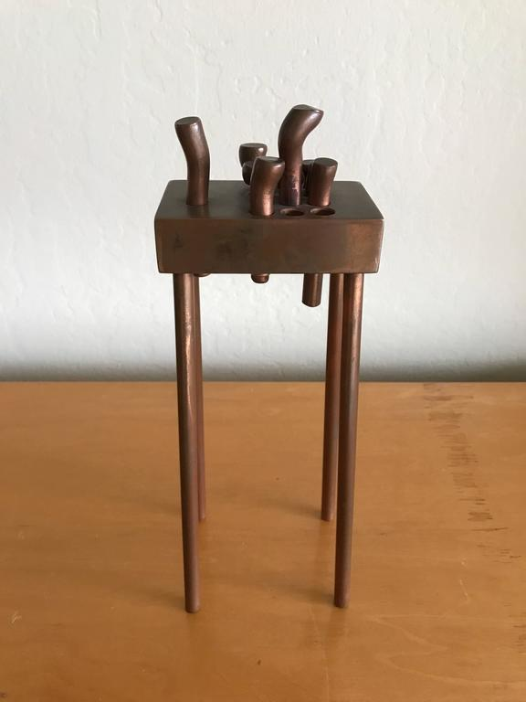 Bay Artist Charles Splady Bronze Abstract Sculpture 2