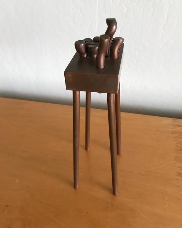 Bay Artist Charles Splady Bronze Abstract Sculpture 6