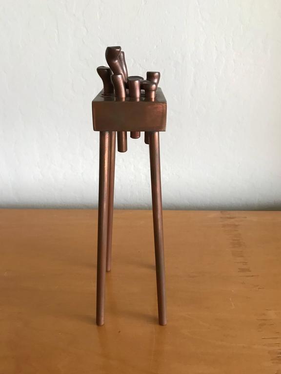 Bay Artist Charles Splady Bronze Abstract Sculpture 9