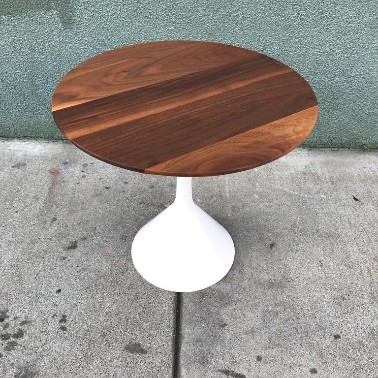 Petite Walnut Modernist Side Table 3