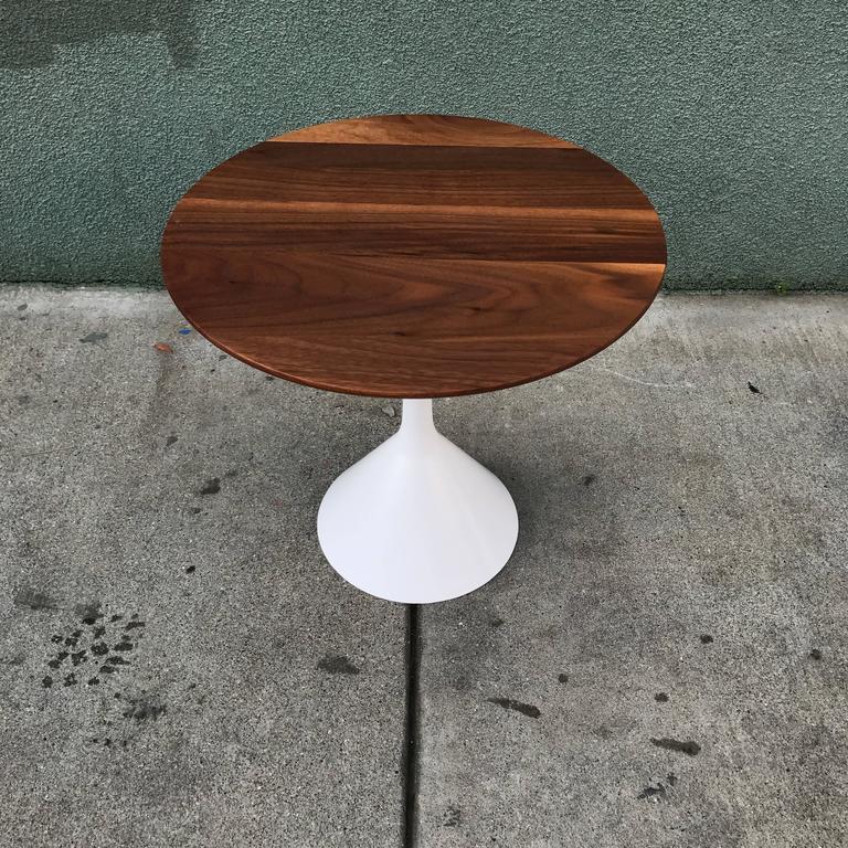 Petite Walnut Modernist Side Table 7