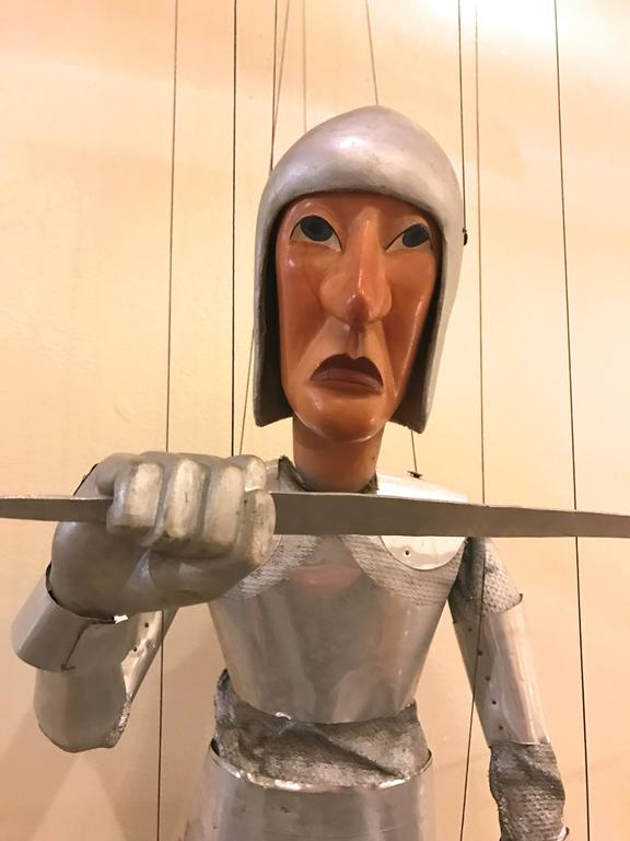 1960s Artists Crafted Medieval Knight Puppet by Stan Felman 3