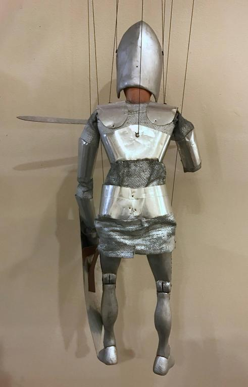 1960s Artists Crafted Medieval Knight Puppet by Stan Felman 4