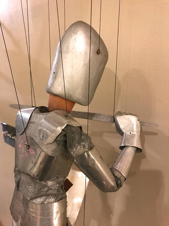 1960s Artists Crafted Medieval Knight Puppet by Stan Felman 5