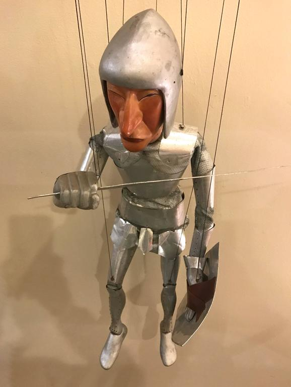 1960s Artists Crafted Medieval Knight Puppet by Stan Felman 6